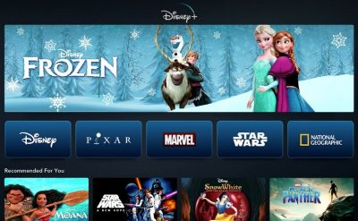 Screen shot of Disney+
