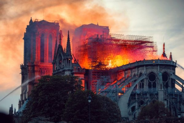 Fire at Notre Dame Cathedral, Paris