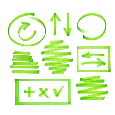 Green scribbles on white background to represent Visual IP